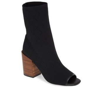Kelsi Dagger Brooklyn - Macey Knit Peep Toe Bootie